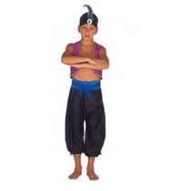 Fantasia Infantil Aladim Príncipe Disney C/ Turbante G