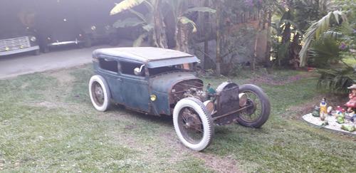 FORD TUDOR 1929 RATROD TETO REBAIXADO HOTROD MOTOR 4 CILINDR