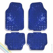 Tapete Metalizado Azul Universal 4 Peças