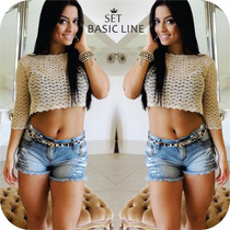 Shorts Set Jeans Destroyed Divino