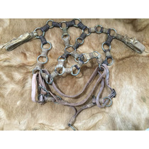 Antiga Cabeçada Traias Alpaca Argolas Fivela 110 Eberle