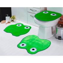 Jogo De Banheiro Sapo 1 Em Pelucia