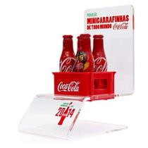 Mini Troféu Da Copa Do Mundo Com Garrafinhas Da Coca Cola