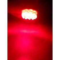 Lâmpada Automotiva Led 2 Polos 12 Leds Vermelha 24 Volts