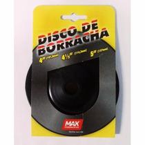 Disco De Borracha P/ Suporte Disco Lixa - Esmeriladeira 41/2