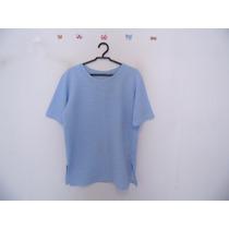 Blusa Feminina Azul Manguinhas Cód. 582