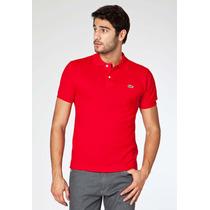 Camisa Polo Lacoste Vermelha/etna Red Original Tamanho 5/m