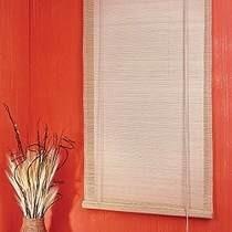 Persiana Bambu Cortina Rolo 1,60 X 1,60 Cm Mista Branca