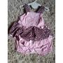 Vestido Infantil Bebe Menina Rosa Verão Com Chapéu 3 Peças