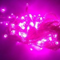 Pisca Pisca Led Natal Rosa - Roxo - Verde 127v 100 Lampadas