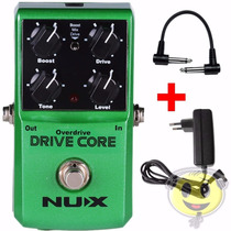 Pedal Efeito Nux Drive Core Overdrive Boost +brinde Kadu Som