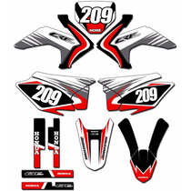 Kit Adesivos Graficos Crf 230 Ano 2015 Moto Crfmd-05