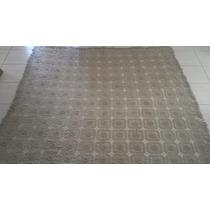 Colcha De Crochê Retangular 2,40x2,65m Cor Bege Crú