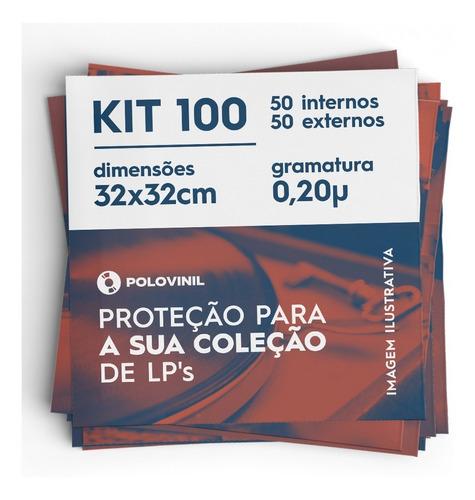 Vinil Lps 100 Plasticos 50 Extra Grosso 0.20 E 50 Internos