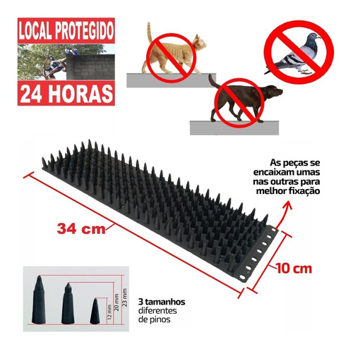 Repelente Anti Pombos/contra Gatos E Inibidor D Acesso/4pçs