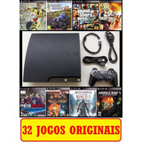 Ps3 Playstation 3 Gta 5 Pes  Fifa 19 +  40 Jogos + The Last