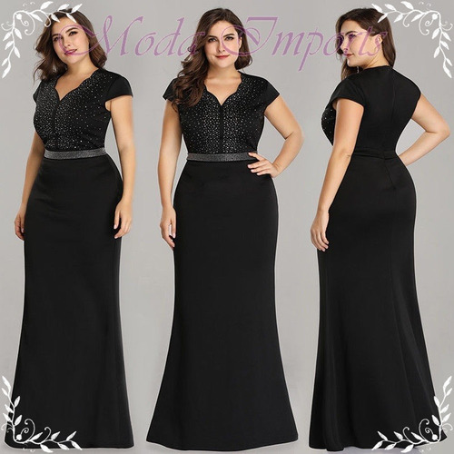 9242bad9d Vestido De Festa Plus Size Black Noah Sereia Luxurs Ever