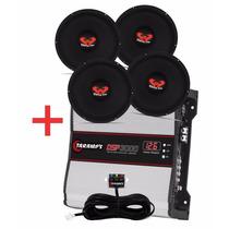 Kit 4 Woofer Ultravox 12 550 Wrms + Modulo Taramps Dsp 3000w
