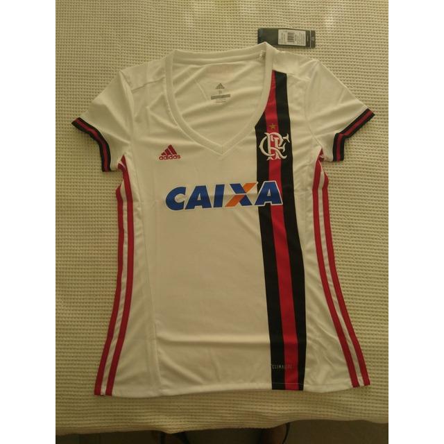 7d29917536 Camisa Feminina Original Flamengo adidas Branca 2017 2018 em ...