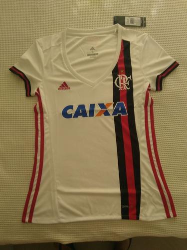 Camisa Feminina Original Flamengo adidas Branca 2017 2018 e164b59a243ea