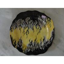 #9216# Prato De Parede Porcelana Pintado À Mão Antigo!!!
