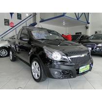 Chevrolet Montana Sport 1.4 Econoflex 8v 2p 2013 2014 Preta