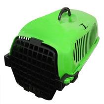 Casinha Caixa Transportar Cães E Gatos Cor Verde - Tamanho M
