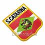 Bebr008 Bandeira Santa Catarina Kart Patch Bordado 6,8x7,5cm