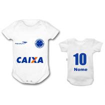 Bori Body Personalizado Bebê Cruzeiro Time Futebol Infantil