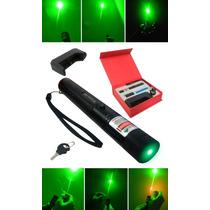 Super Caneta Laser Pointer 10000mw Verde +kit Completo Cp48