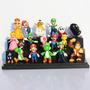 Kit 18 Bonecos Super Mario Luigi Yoshi Nintendo Coleção Game
