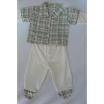 Pagão Bebê Menino Quadriculado