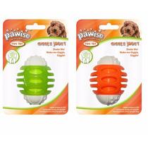 Brinquedo Cães Mordedor Plastico Oval Com Som Pet Shop Cores