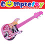 Barbie Guitarra Infantil Luxo Fun; Instrumento Musical