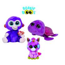 Beanie Boos Kit Macaco, Tartaruga E Unicórnio Colecionável.