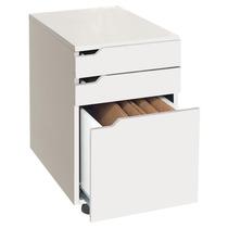 Gaveteiro Branco Para Escritório Para Pasta Suspensa Office