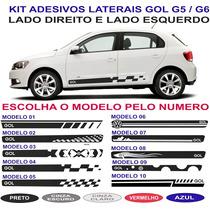 Kit Adesivo Vw Gol G4 G5 G6 Sport Quadrado Voyage Lateral
