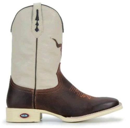 29129af6b0941 Bota Texana Country Feminina Bico Quadrado Solado Branco