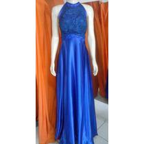 Vestido Longo Festa Azul Royal Madrinha Convidada Formatura