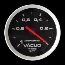 Vacuômetro Cronomac Sport 52mm Manômetro Medidor + Led