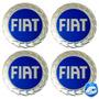 Calotas Em Alumínio Fiat Azul Autocolante 117mm C/ 4 Peças