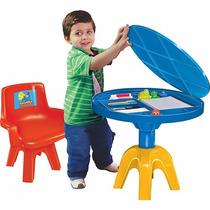 Mesa Com Cadeira Galinha Pintadinha Conjunto