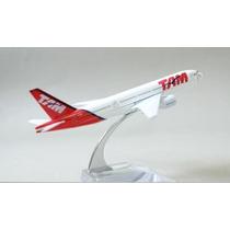 Miniatura Avião Tam B777-200 Em Metal 1:400 (16 X 15 Cm)