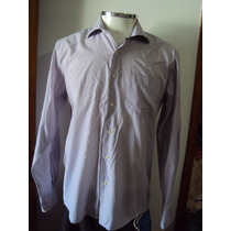 Camisa Social Listrada Masculina Emporio Colombo Tamanho 3