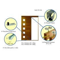Kit Para Porta De Correr 2mt Completo Rold. Concava 4r