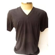 Calvin Klein- Camisa Básica Tam M Gola V 100% Algodão Preta
