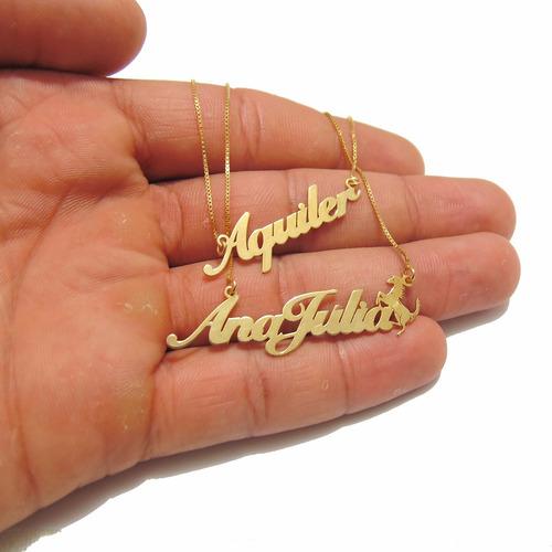 Colar Feminino Nome Personalizado Prata Com Ouro Em Promoção 56de5cc454