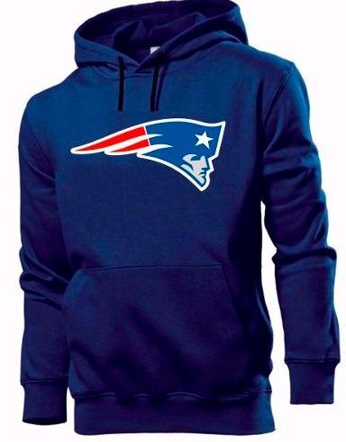 83ba3878f7 Blusa Moletom New England Patriots Futebol Americano Canguru - R  69 ...