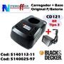 Carregador + Base P/bateria Orig Cd121br Tipo 3 Black&decker