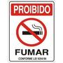 Placa Indicativa Sinalização Proibido Fumar 15x20 Cm
